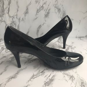 Stuart Weitzman Black Patent Leather Pumps Heels